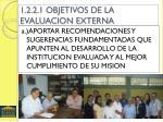 1 2 2 1 objetivos de la evaluacion externa
