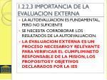1 2 2 3 importancia de la evaluacion externa
