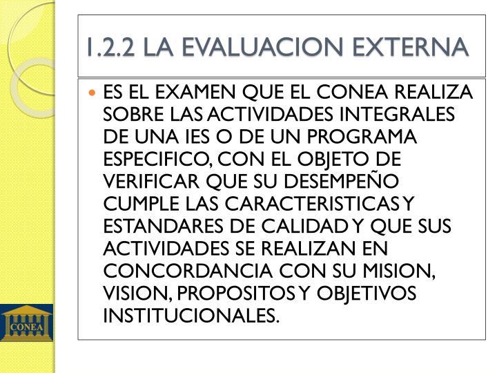 1.2.2 LA EVALUACION EXTERNA