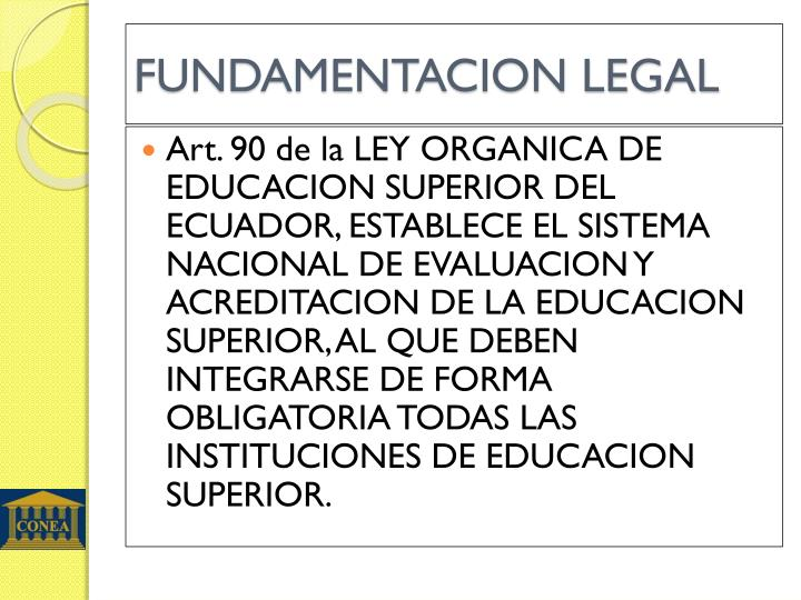Fundamentacion legal