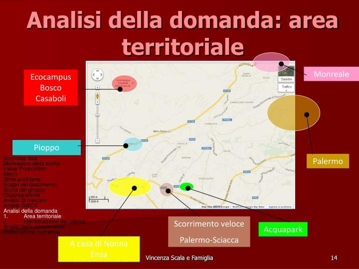 Analisi della domanda: area territoriale