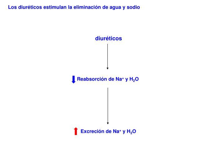 Los diuréticos estimulan la eliminación de agua y sodio