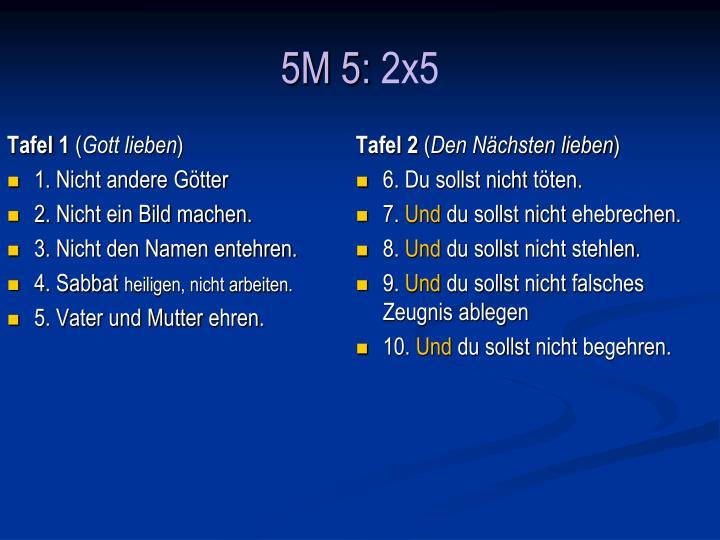 5M 5: