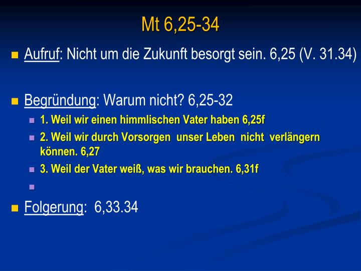 Mt 6,25-34