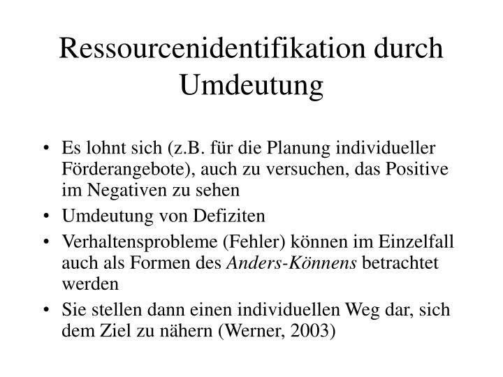 Ressourcenidentifikation durch Umdeutung