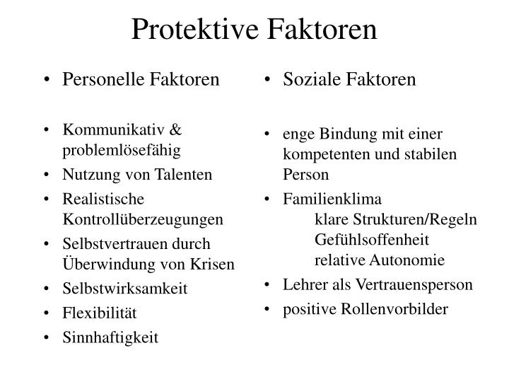 Protektive Faktoren