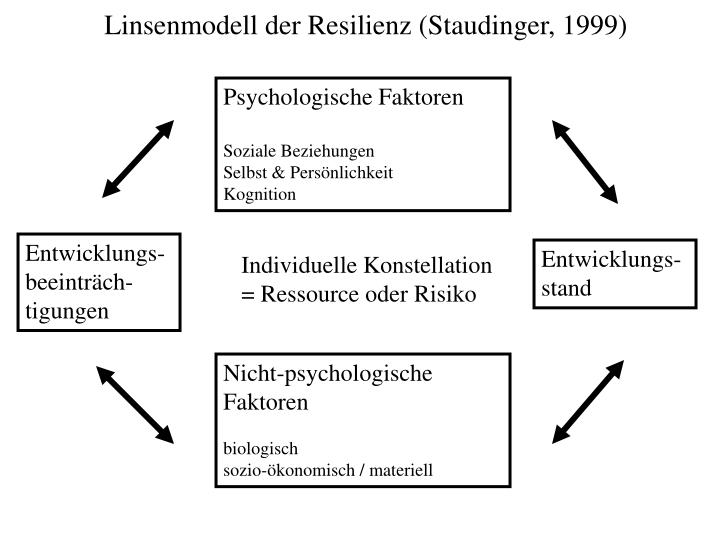 Linsenmodell der Resilienz (Staudinger, 1999)