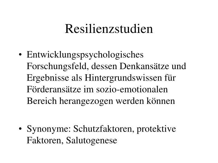 Resilienzstudien