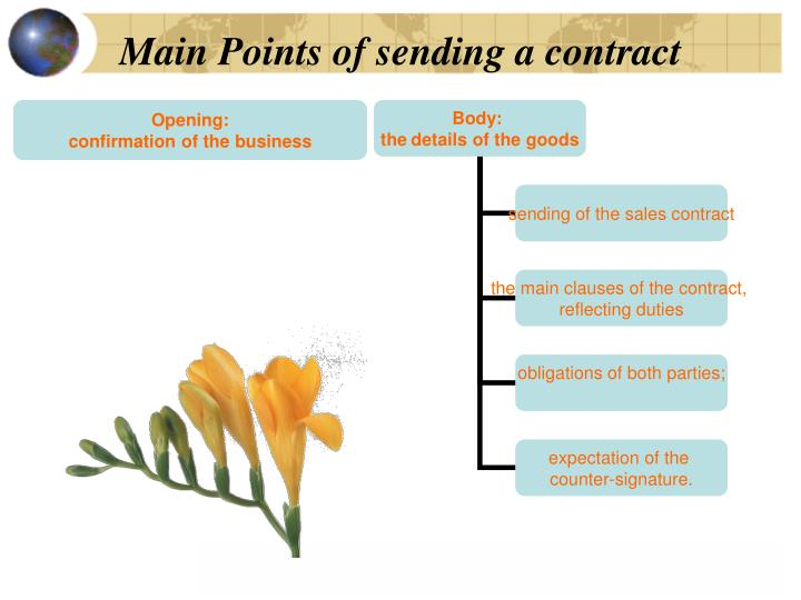 Main Points of sending a contract