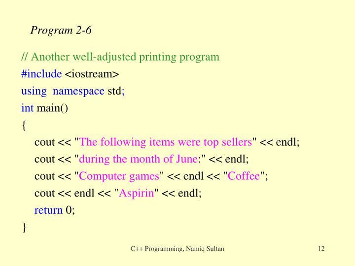 Program 2-6