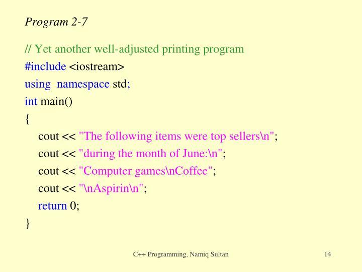 Program 2-7