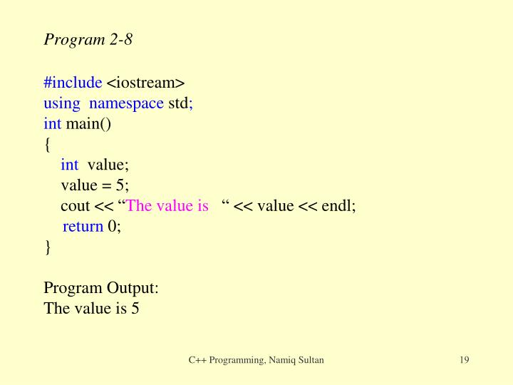 Program 2-8