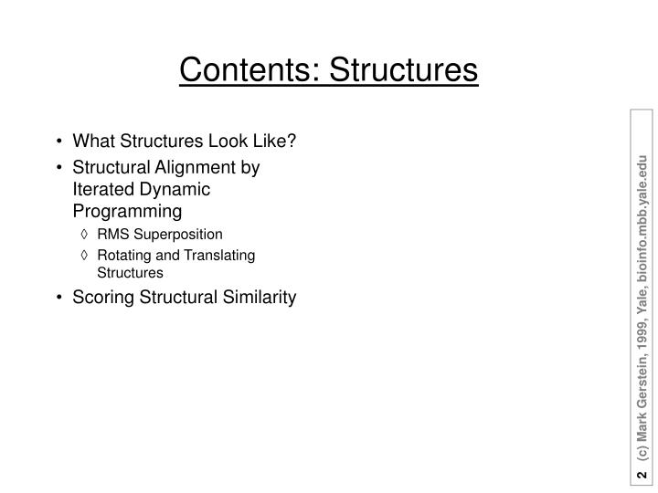 Contents structures