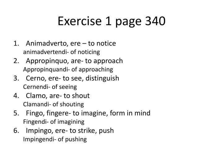 Exercise 1 page 340