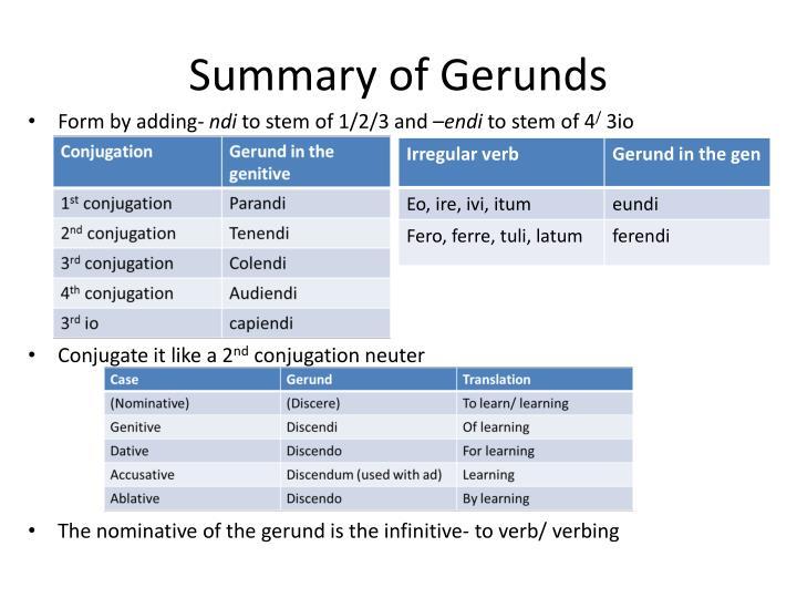 Summary of Gerunds