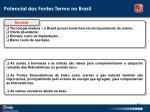 potencial das fontes termo no brasil1