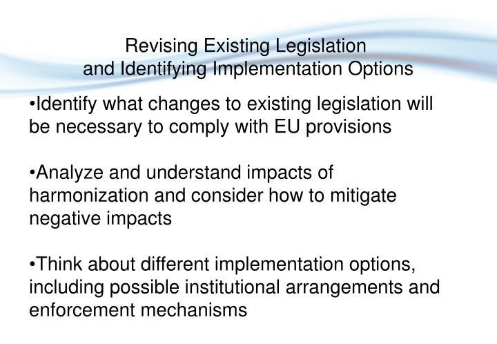 Revising Existing Legislation