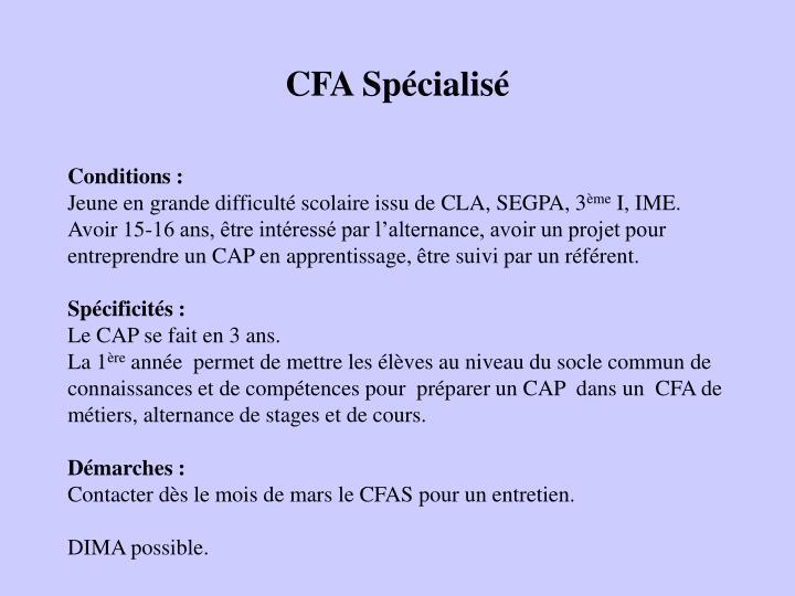 CFA Spécialisé