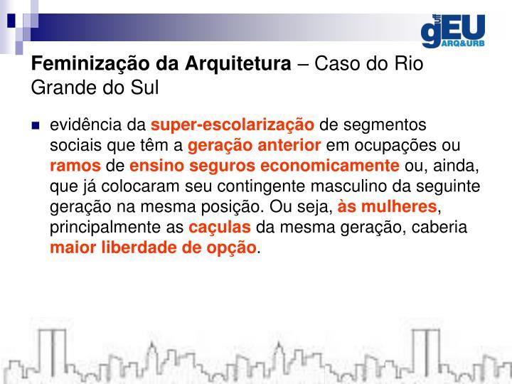 Feminização da Arquitetura