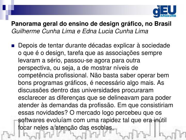 Panorama geral do ensino de design gráfico, no Brasil