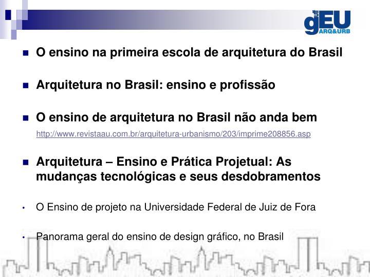 O ensino na primeira escola de arquitetura do Brasil