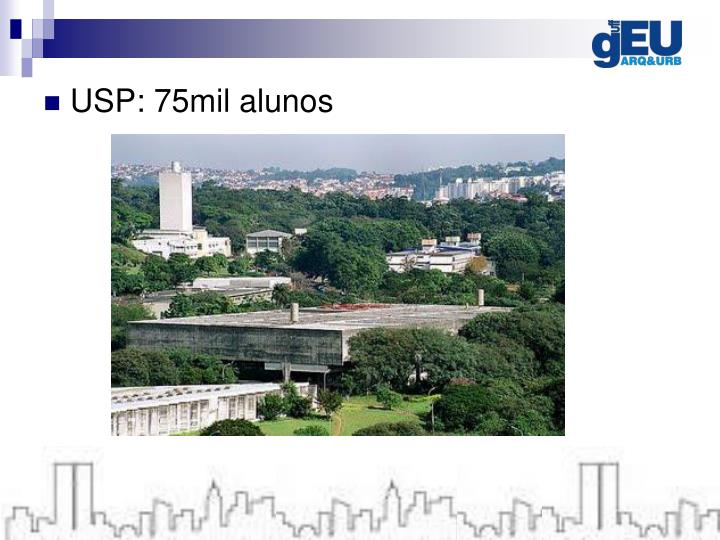 USP: 75mil alunos