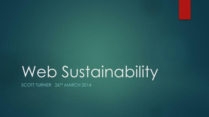 Web sustainability