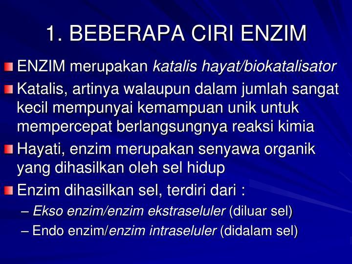 1. BEBERAPA CIRI ENZIM