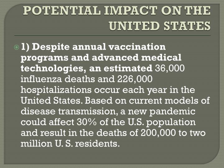 Report Pandemic Flu Outbreak Could Spark Major U.S. Recession