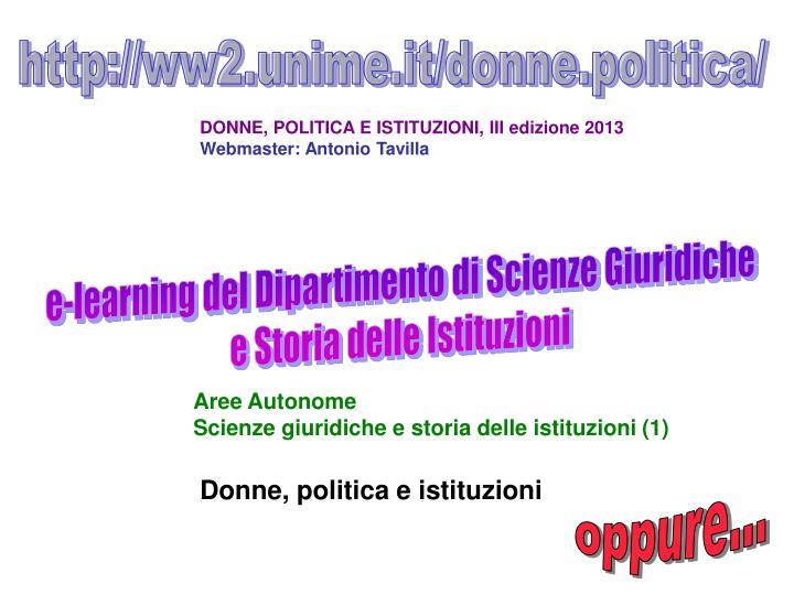 http://ww2.unime.it/donne.politica/