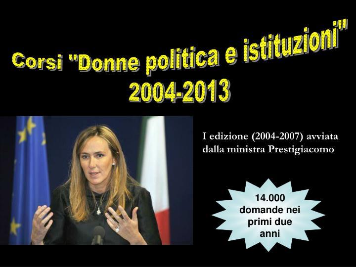 """Corsi """"Donne politica e istituzioni"""""""