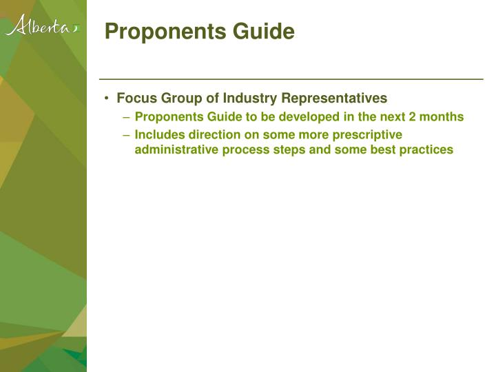 Proponents Guide
