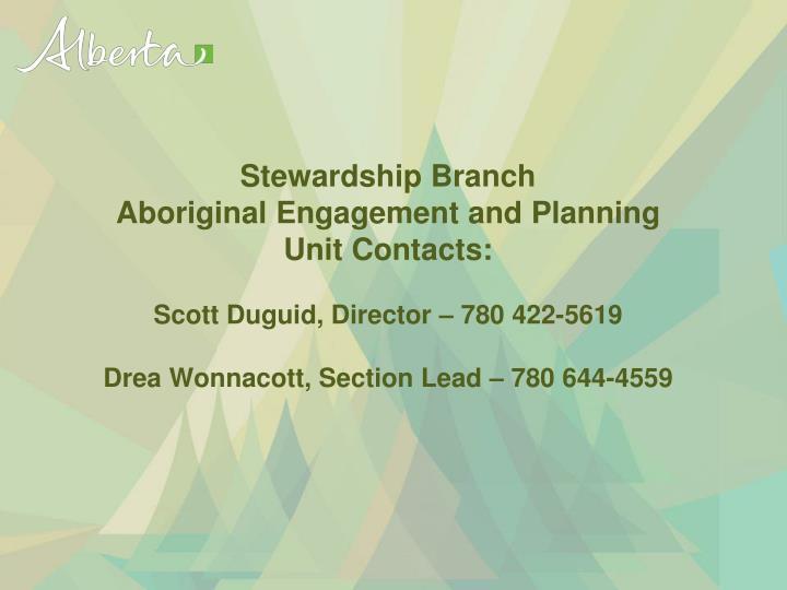 Stewardship Branch