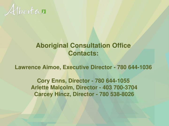 Aboriginal Consultation Office