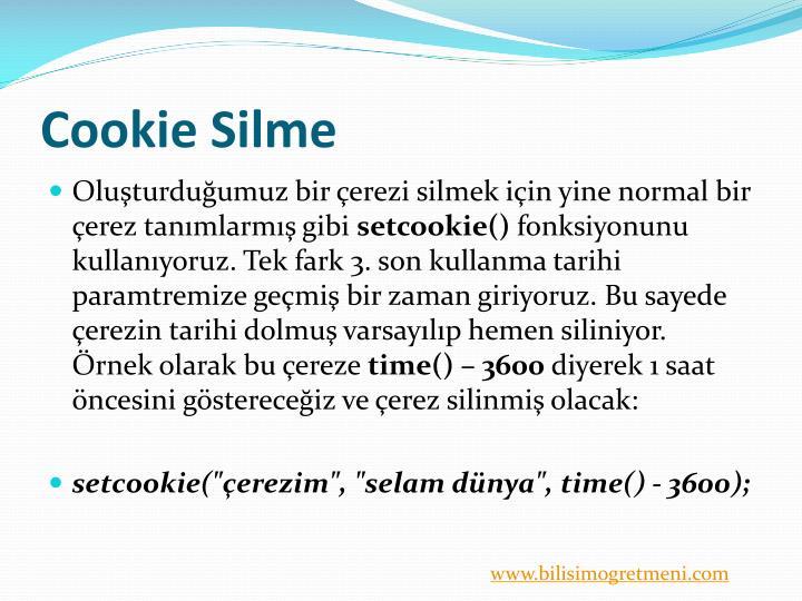 Cookie Silme