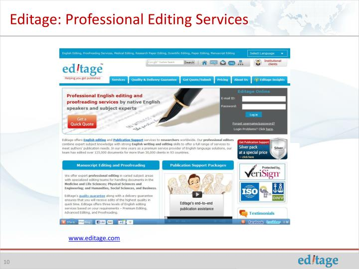 Editage: Professional Editing Services