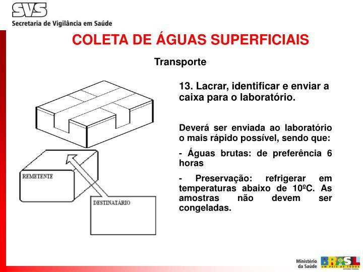 COLETA DE ÁGUAS SUPERFICIAIS