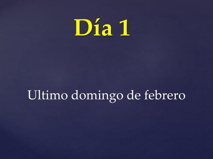 Ultimo domingo de febrero