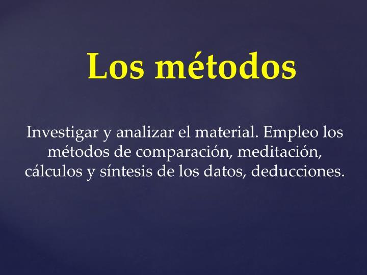 Los métodos