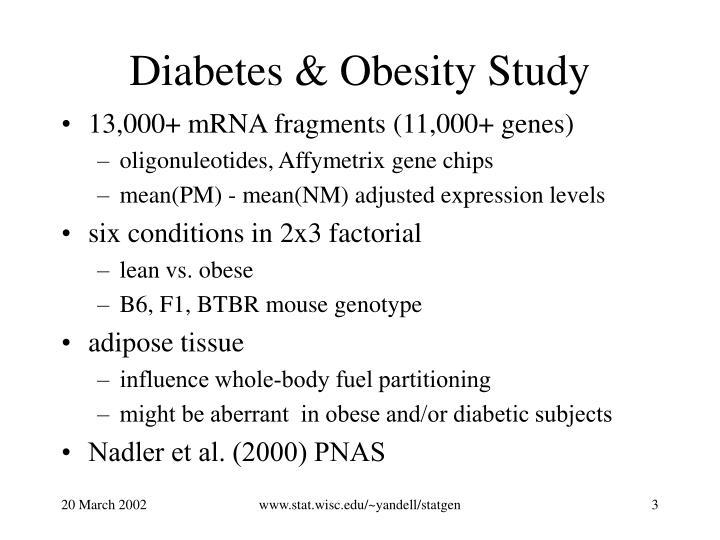 Diabetes & Obesity Study