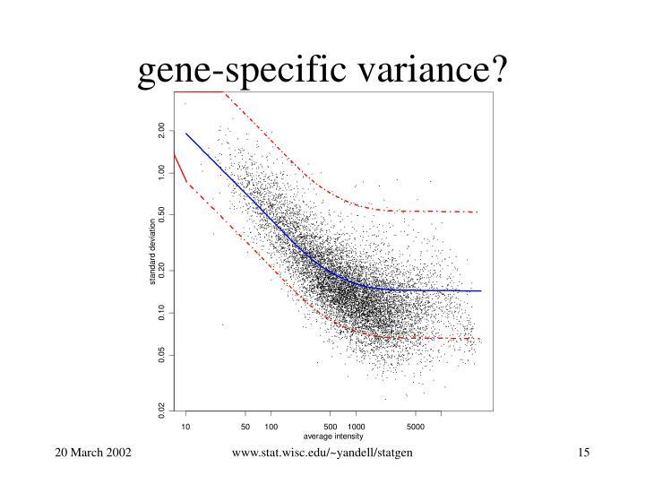 gene-specific variance?