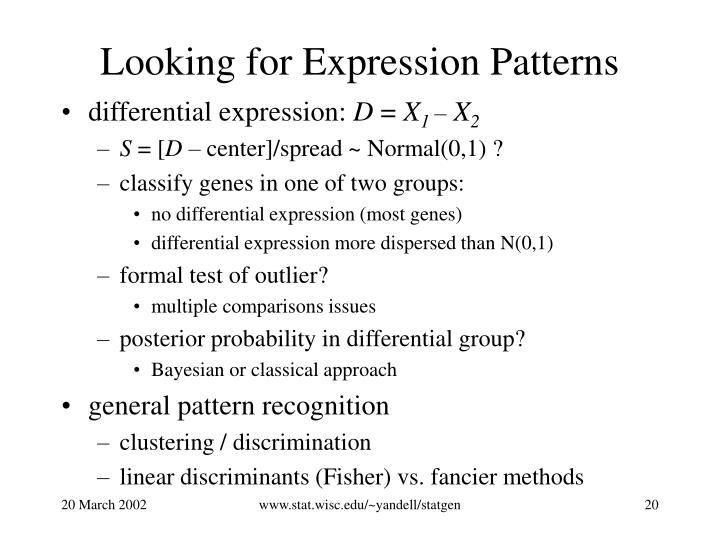 Looking for Expression Patterns
