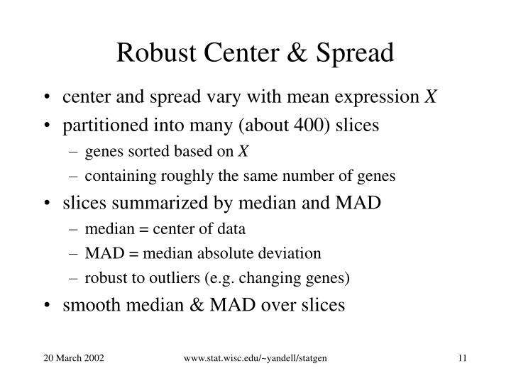 Robust Center & Spread