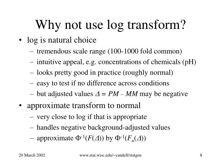 Why not use log transform?