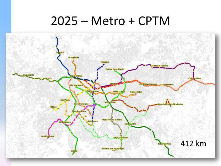 2025 – Metro + CPTM