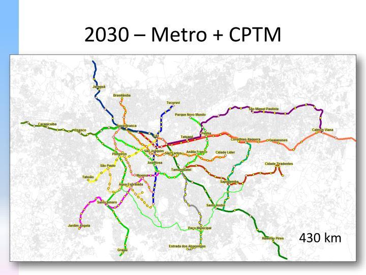2030 – Metro + CPTM