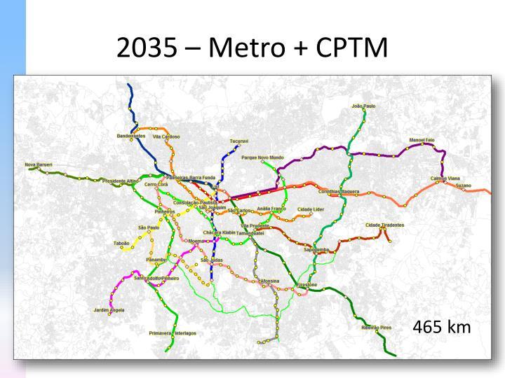 2035 – Metro + CPTM