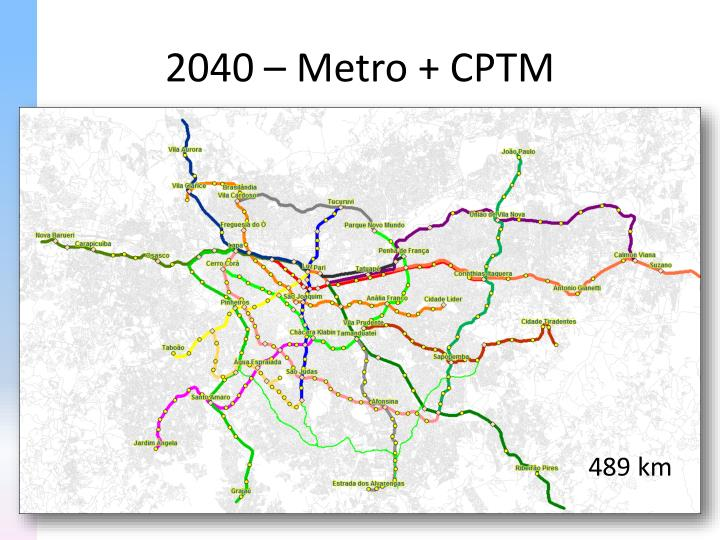 2040 – Metro + CPTM