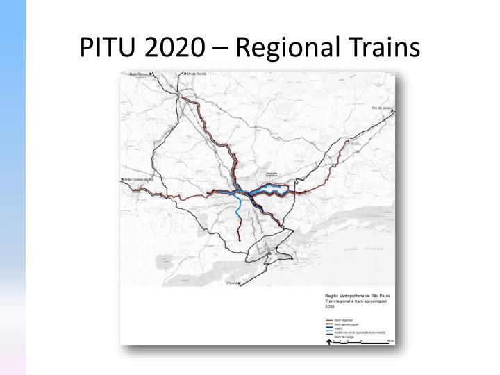 PITU 2020 – Regional Trains