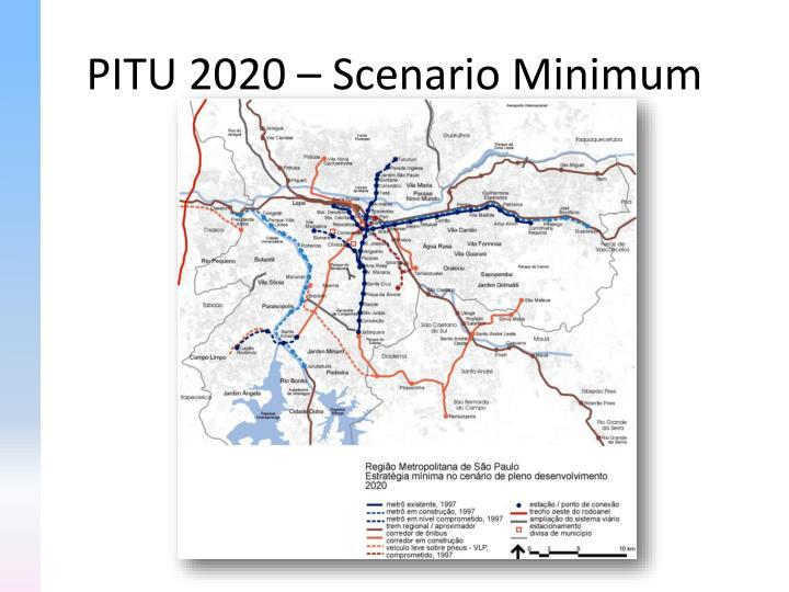 PITU 2020 – Scenario Minimum
